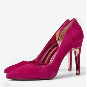 Ted Baker Bright Pink Suede Pumps